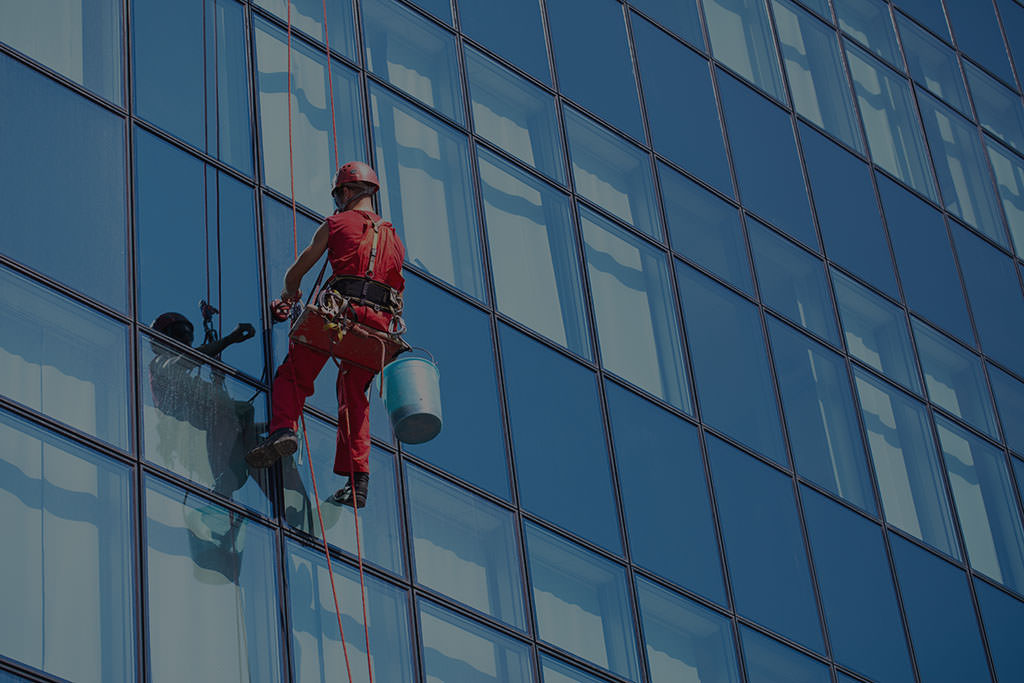 Window Cleaning an Office Building in Las Vegas