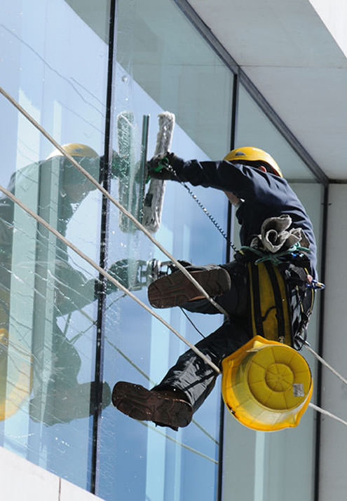 Window Cleaning Three Story Office Building In Las Vegas
